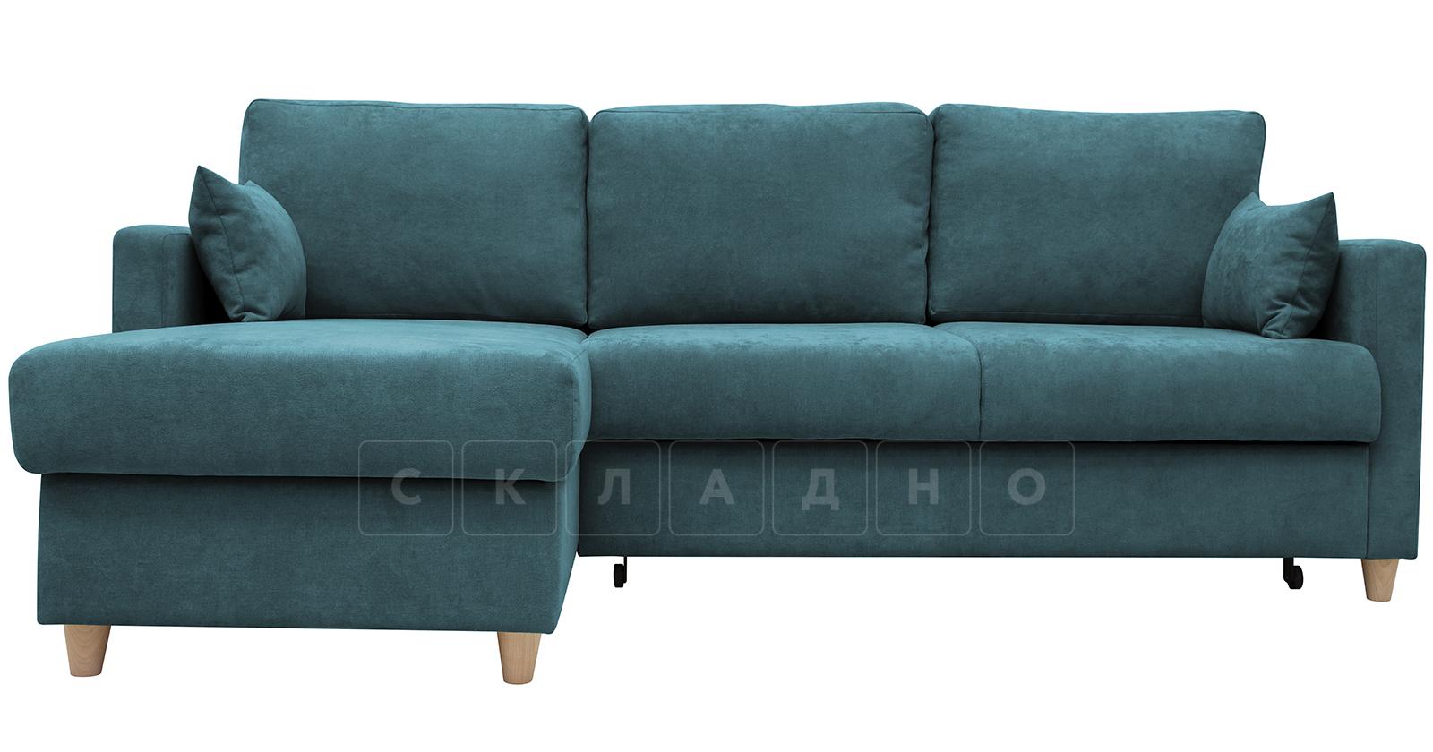 Угловой диван Дарвин бирюзовый фото 2   интернет-магазин Складно