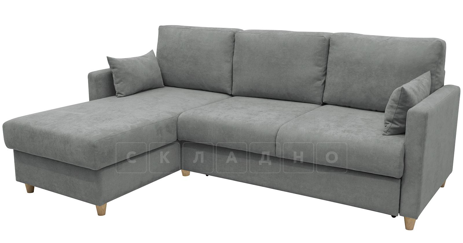 Угловой диван Дарвин серый фото 2 | интернет-магазин Складно