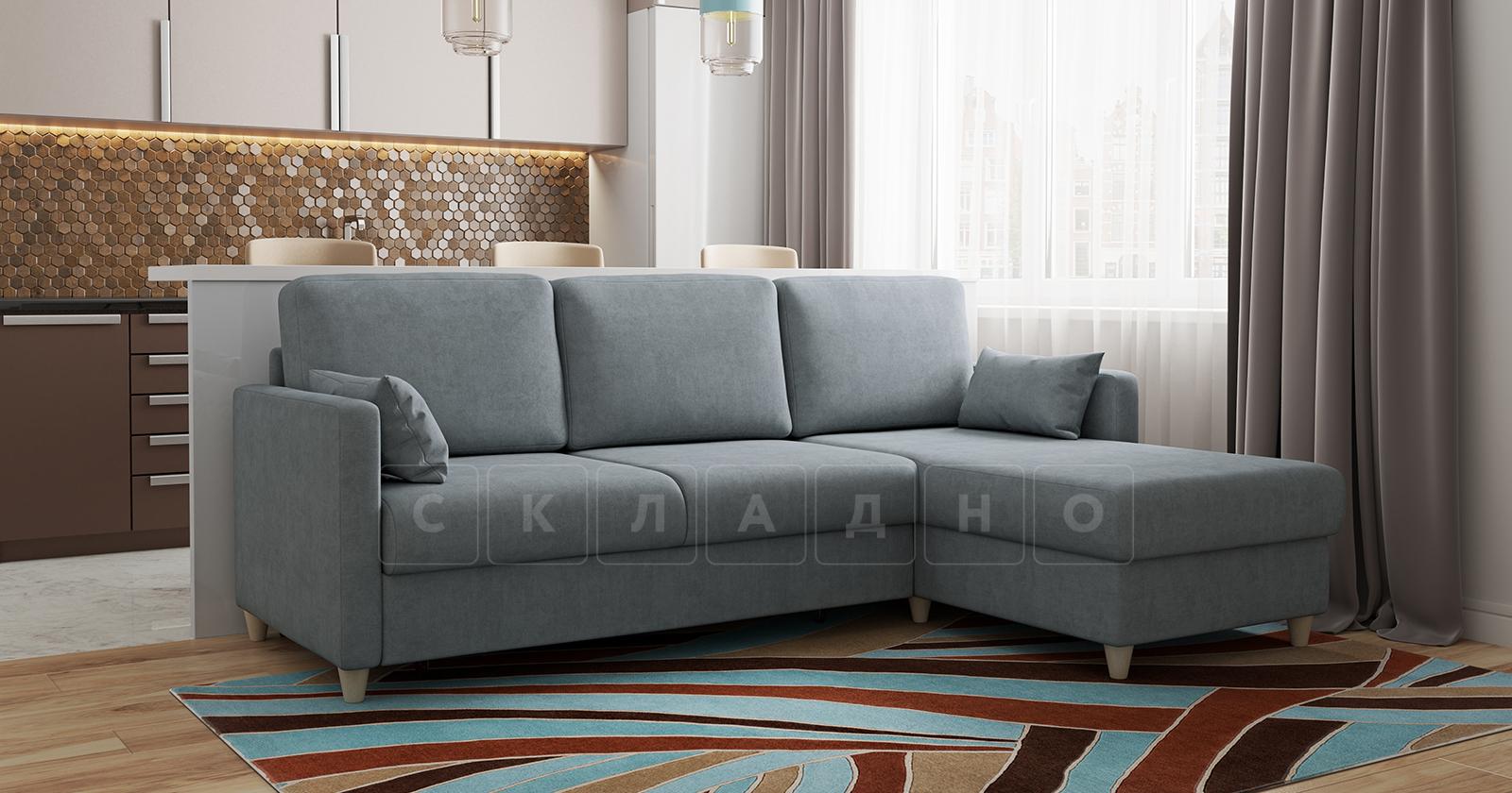 Угловой диван Дарвин серый фото 17 | интернет-магазин Складно
