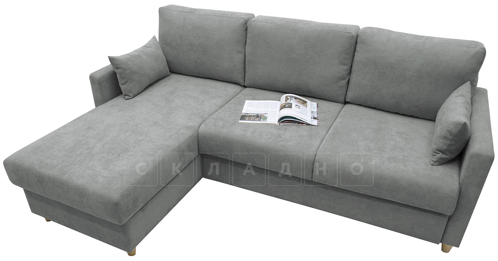 Угловой диван Дарвин серый фото 3 | интернет-магазин Складно