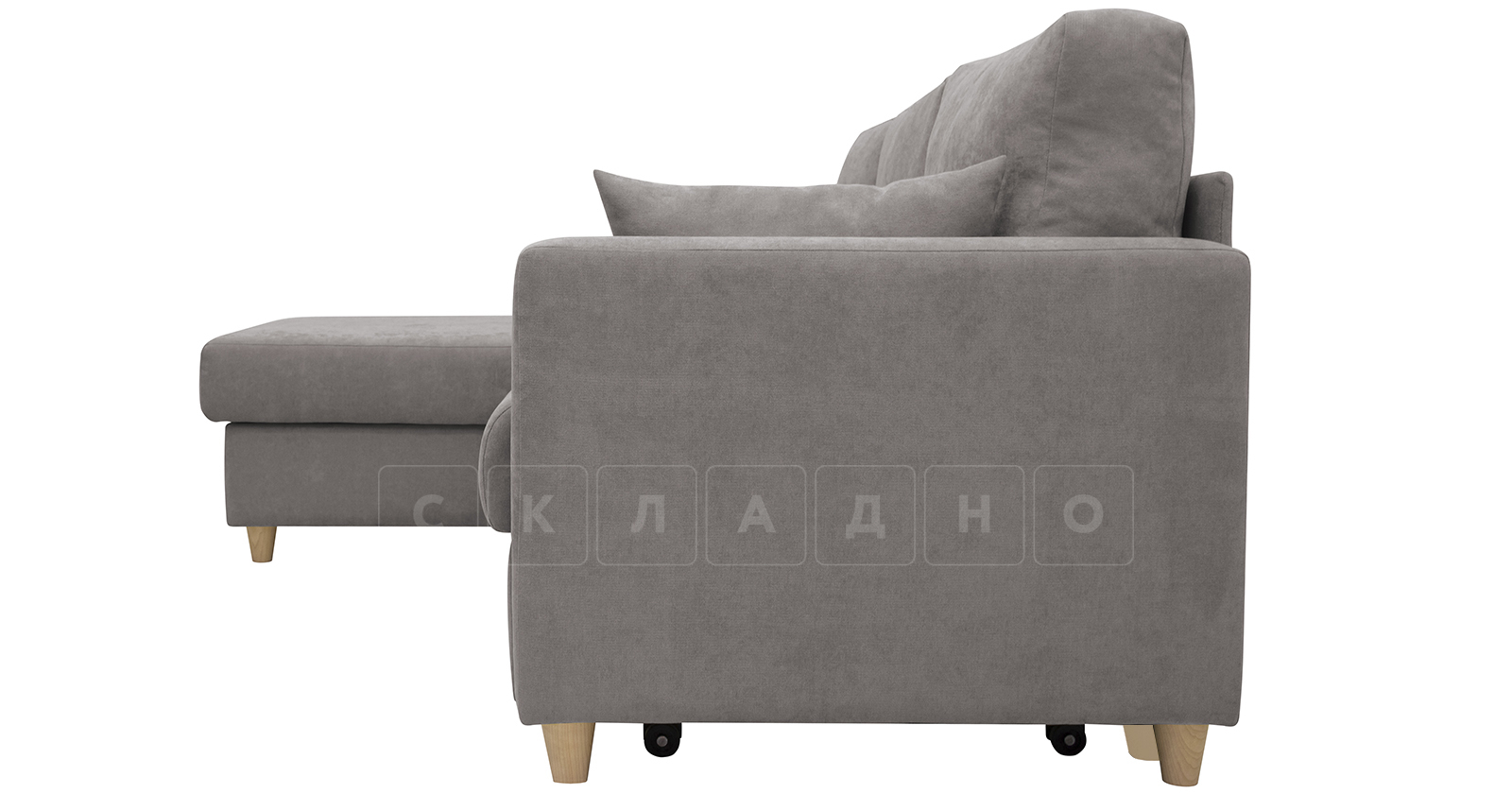 Угловой диван Дарвин серый фото 5 | интернет-магазин Складно