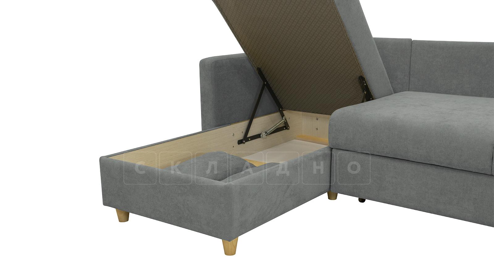 Угловой диван Дарвин серый фото 7 | интернет-магазин Складно