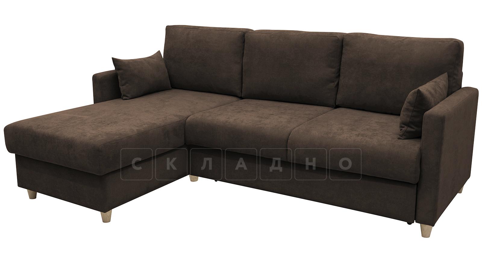 Угловой диван Дарвин коричневый фото 3   интернет-магазин Складно