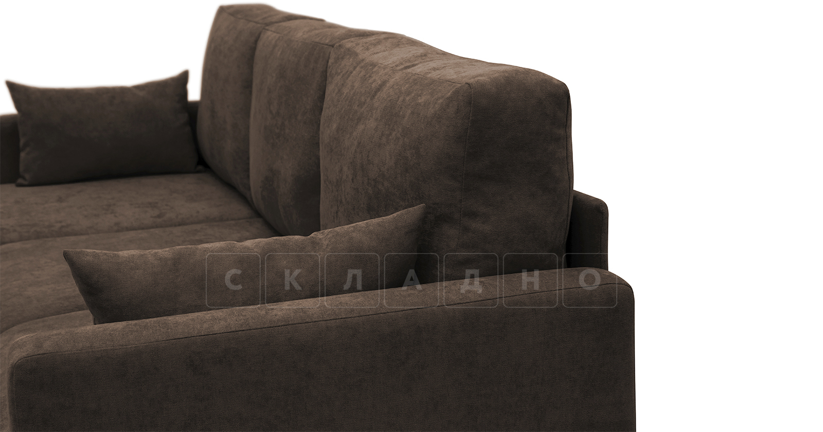 Угловой диван Дарвин коричневый фото 12   интернет-магазин Складно