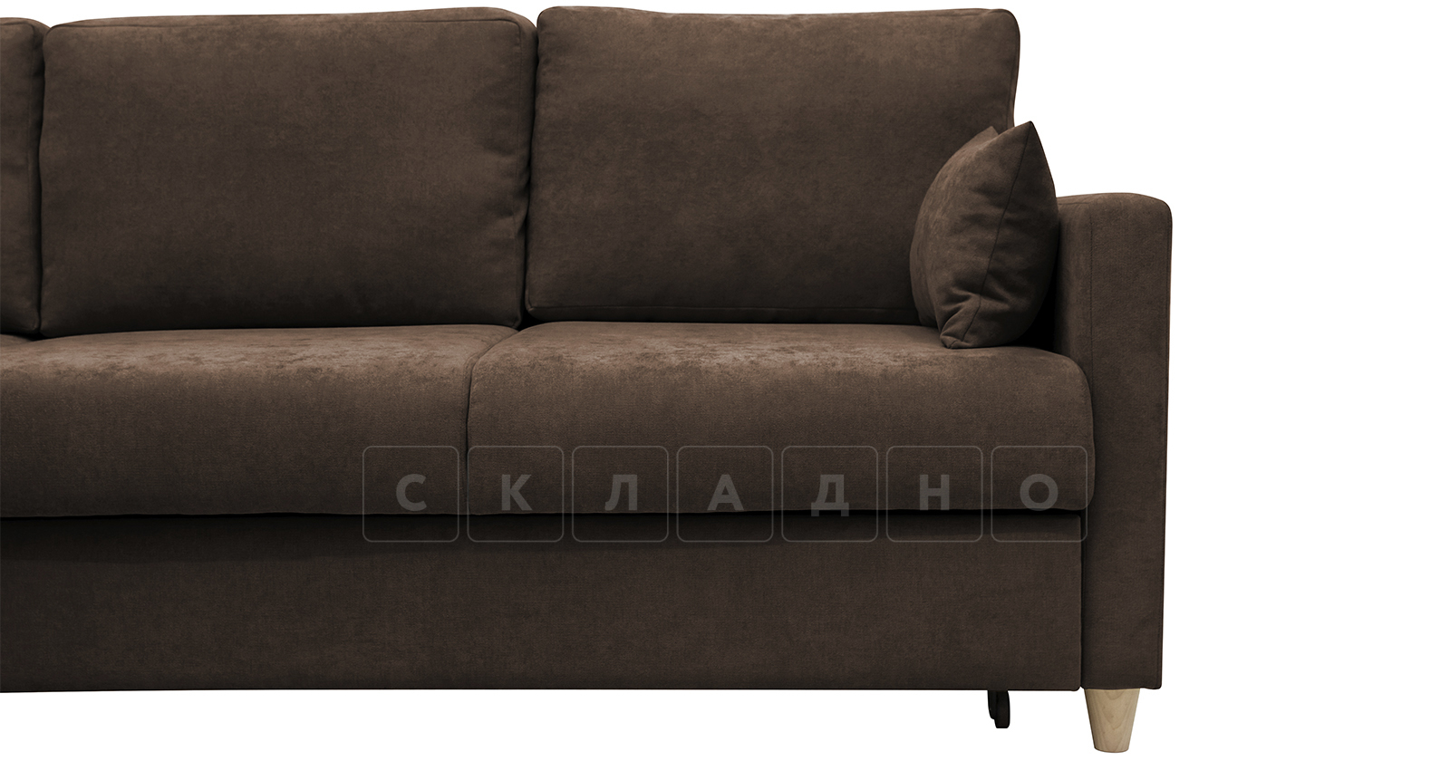 Угловой диван Дарвин коричневый фото 13   интернет-магазин Складно