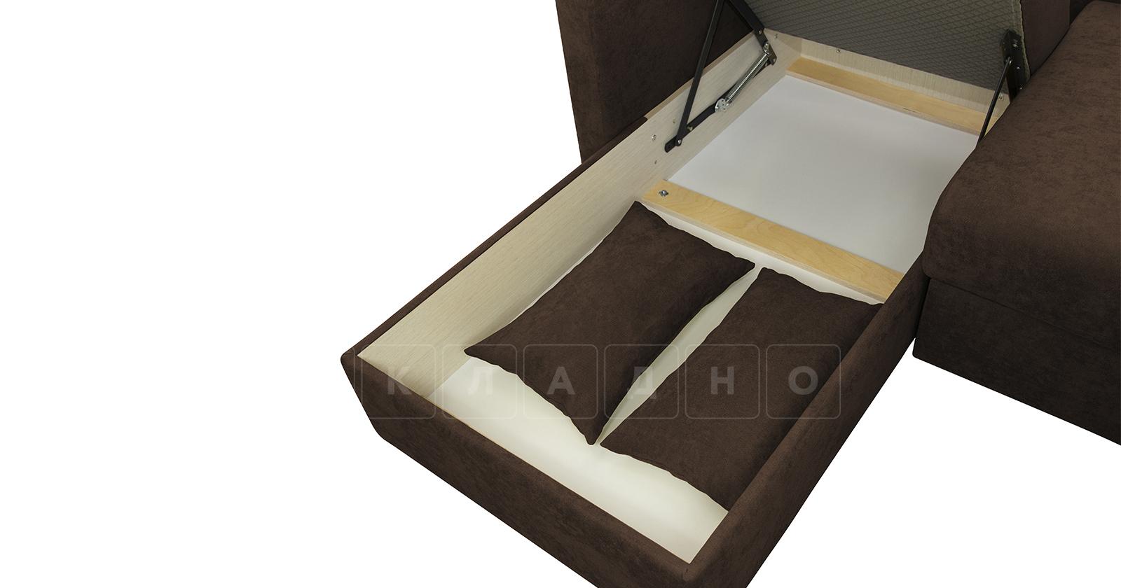 Угловой диван Дарвин коричневый фото 15   интернет-магазин Складно
