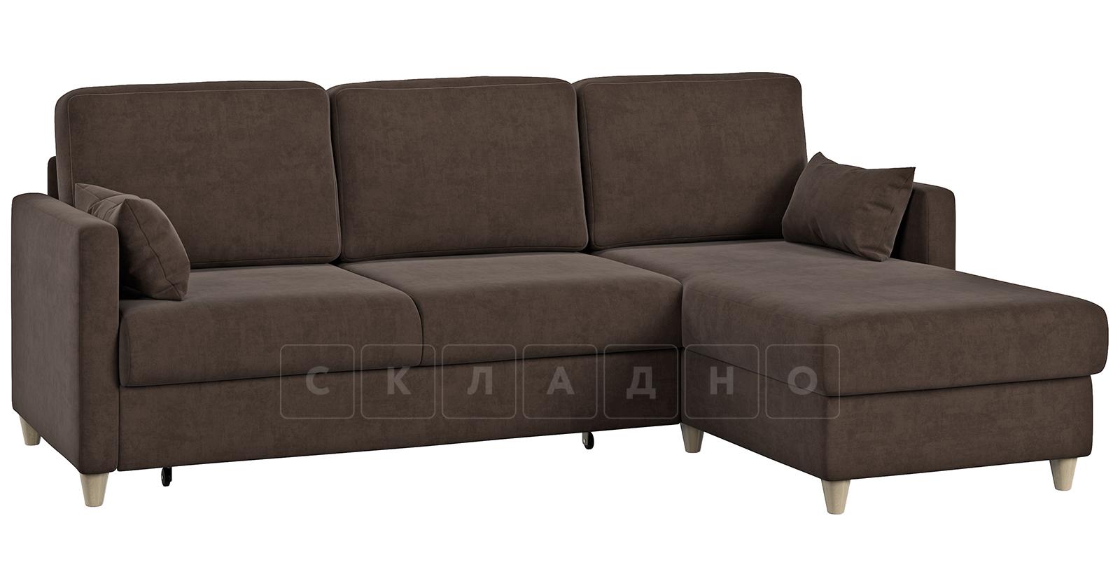 Угловой диван Дарвин коричневый фото 1   интернет-магазин Складно