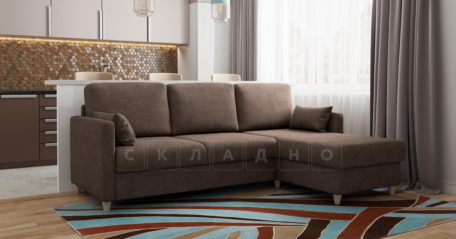Угловой диван Дарвин коричневый фото 17   интернет-магазин Складно