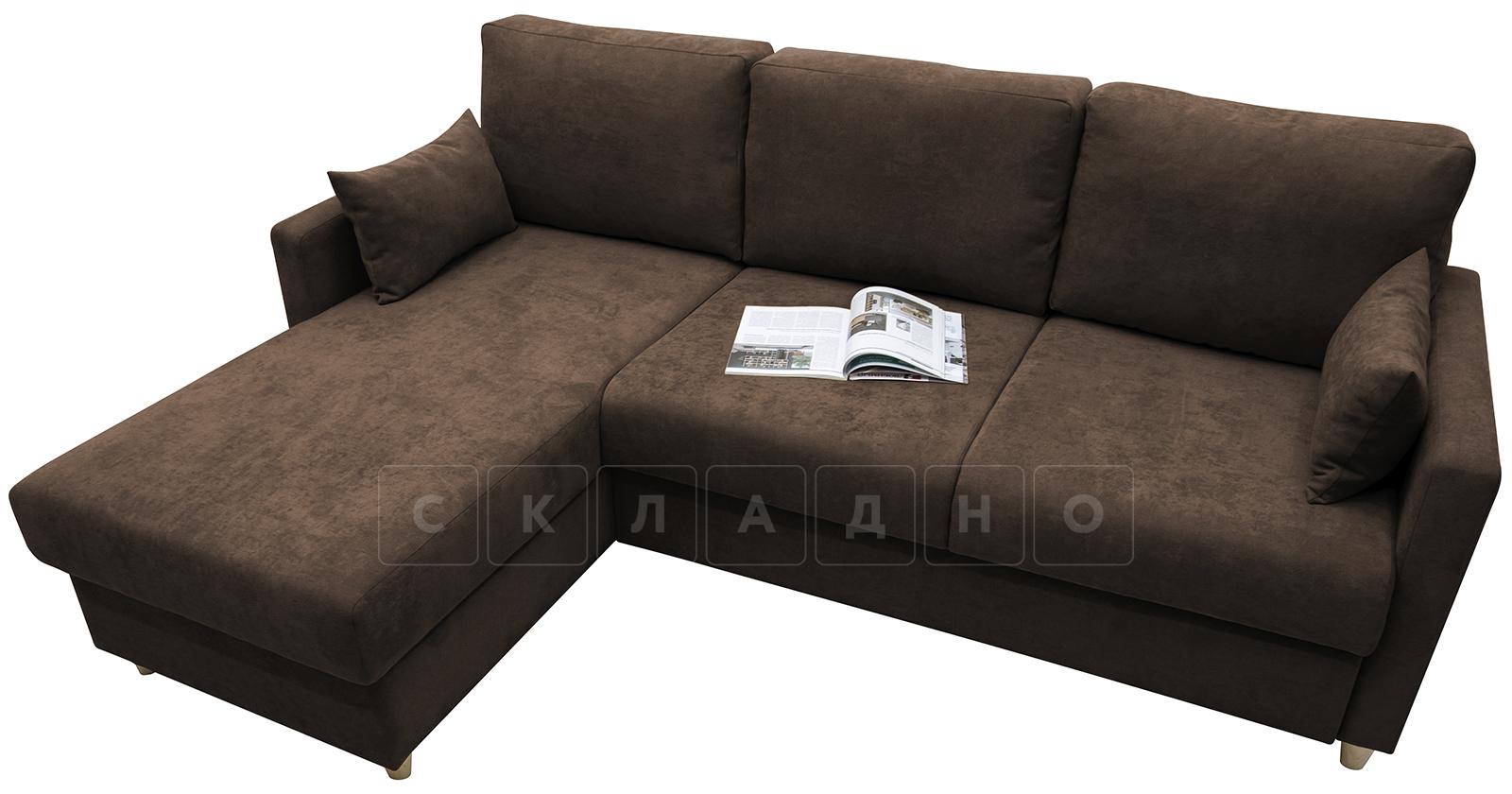 Угловой диван Дарвин коричневый фото 4   интернет-магазин Складно