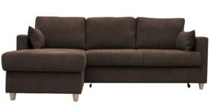 Угловой диван Дарвин коричневый фото | интернет-магазин Складно