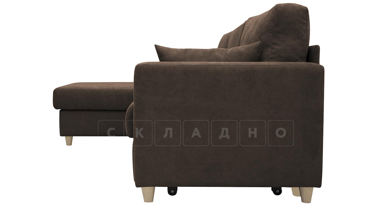 Угловой диван Дарвин коричневый фото 6   интернет-магазин Складно