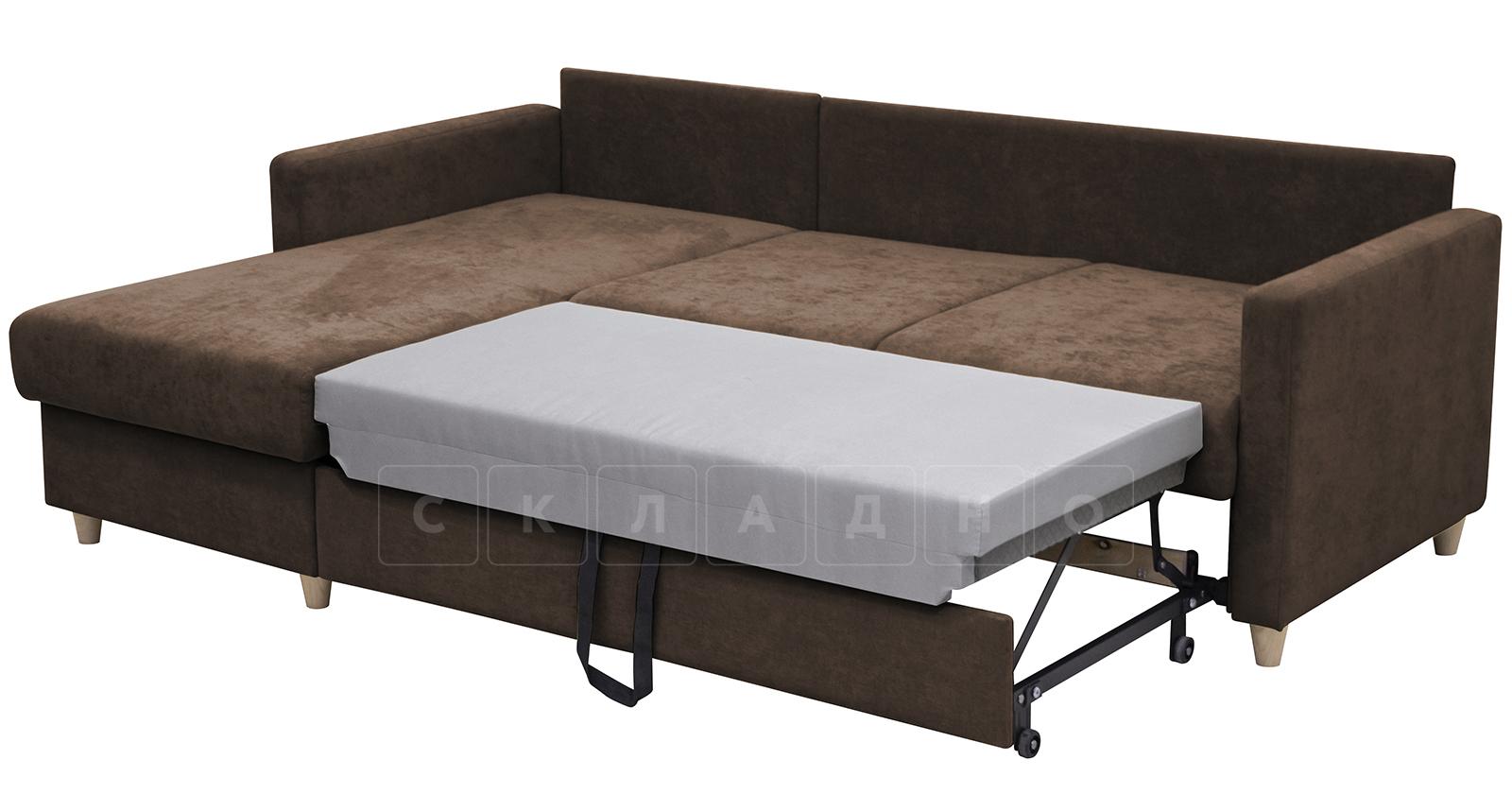 Угловой диван Дарвин коричневый фото 7   интернет-магазин Складно