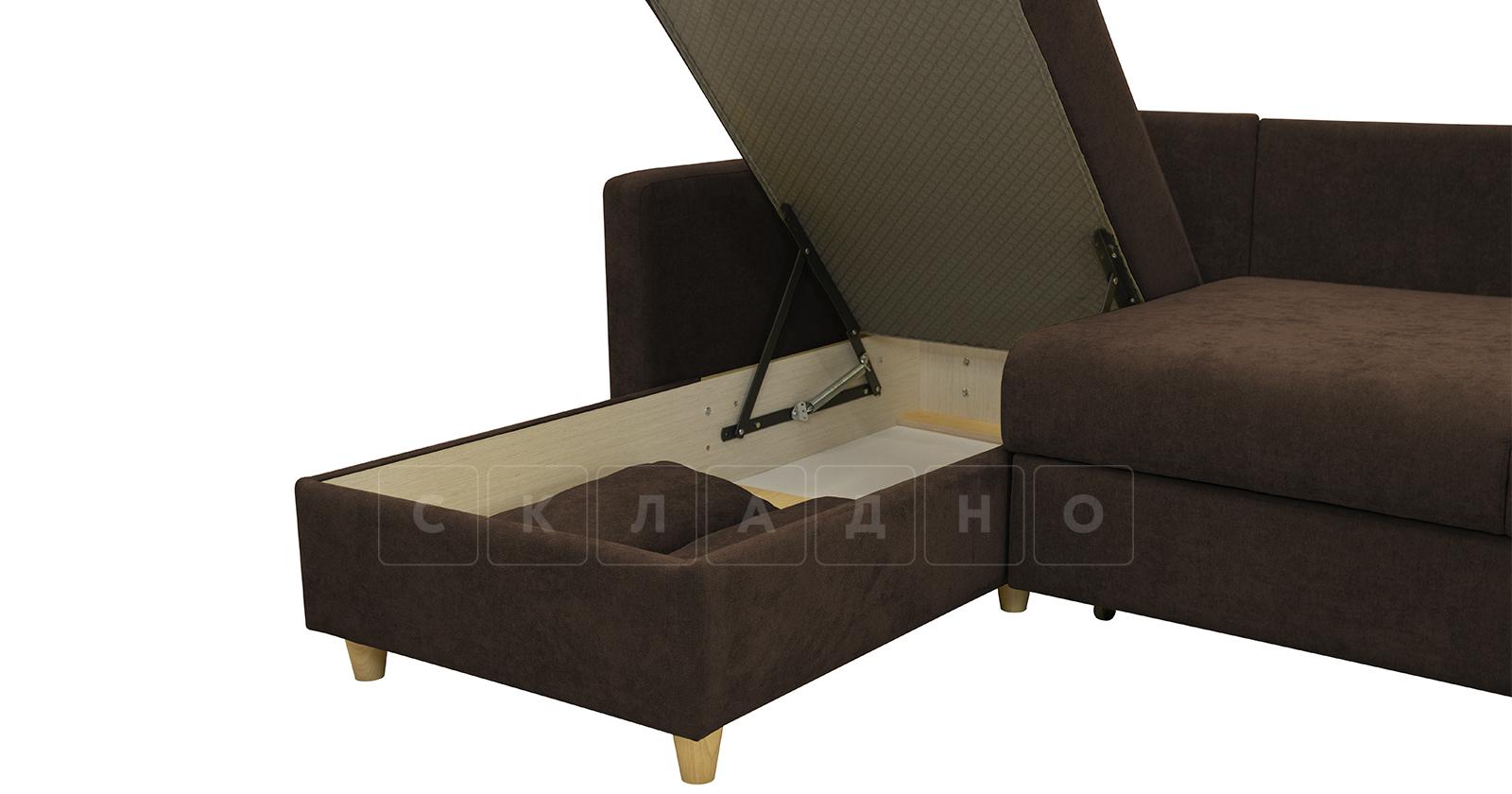 Угловой диван Дарвин коричневый фото 8   интернет-магазин Складно