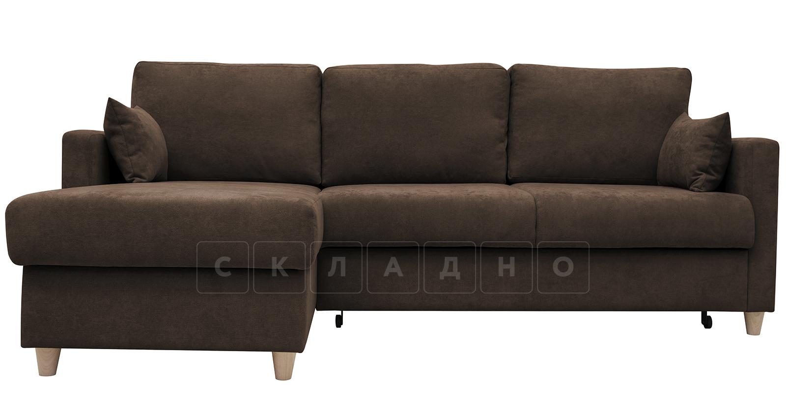 Угловой диван Дарвин коричневый фото 2   интернет-магазин Складно
