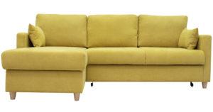 Угловой диван Дарвин горчичный-15337 фото | интернет-магазин Складно