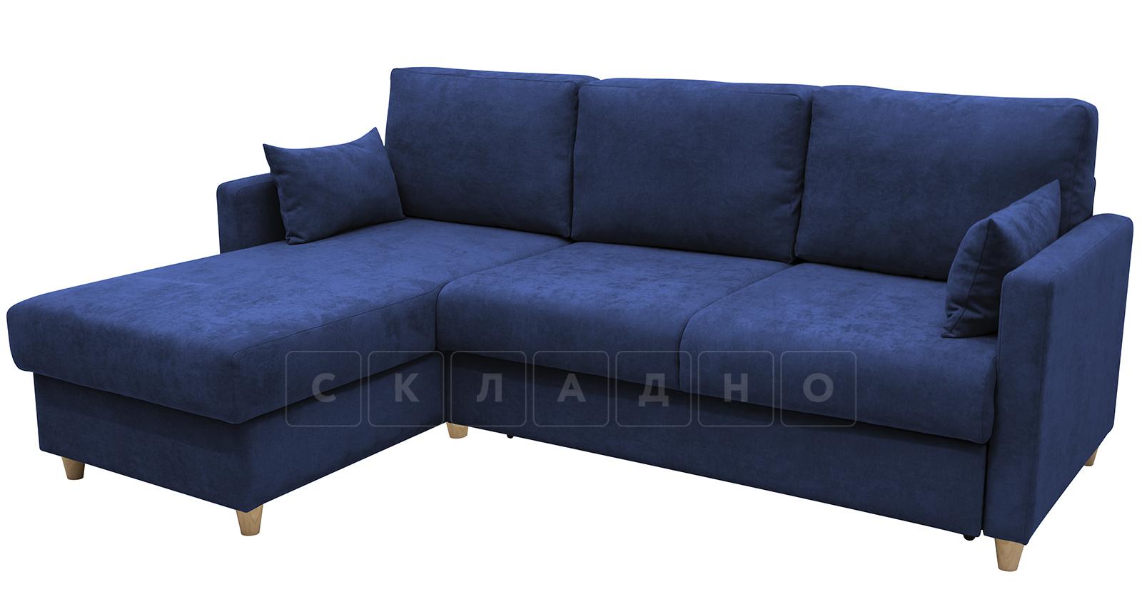 Угловой диван Дарвин темно-синий фото 2 | интернет-магазин Складно