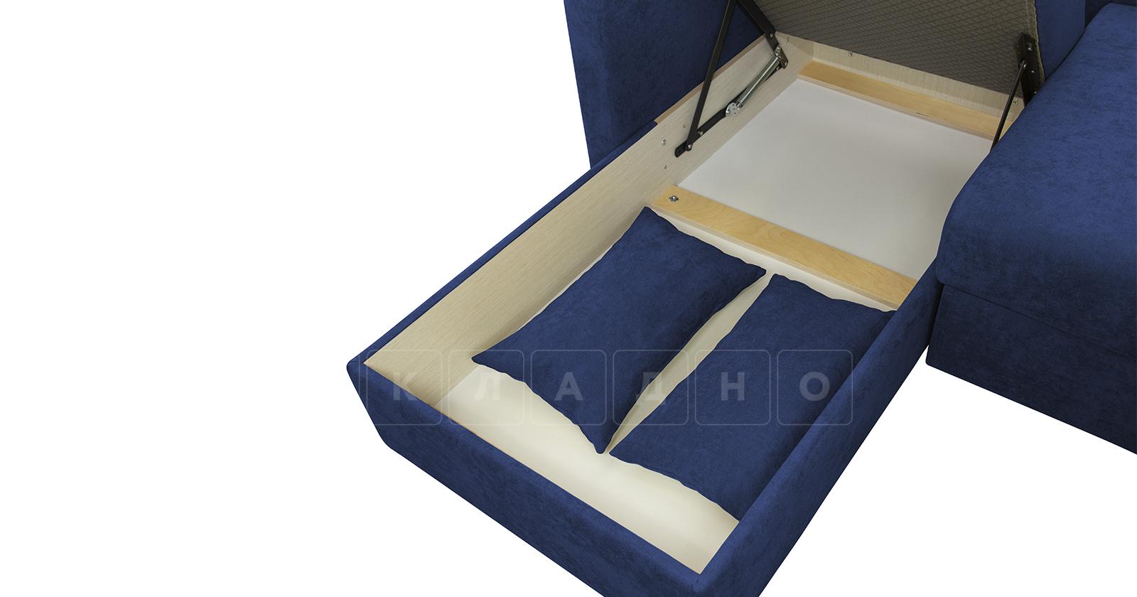 Угловой диван Дарвин темно-синий фото 14 | интернет-магазин Складно