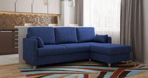 Угловой диван Дарвин темно-синий 55500 рублей, фото 17 | интернет-магазин Складно
