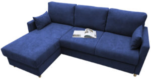 Угловой диван Дарвин темно-синий 55500 рублей, фото 3 | интернет-магазин Складно