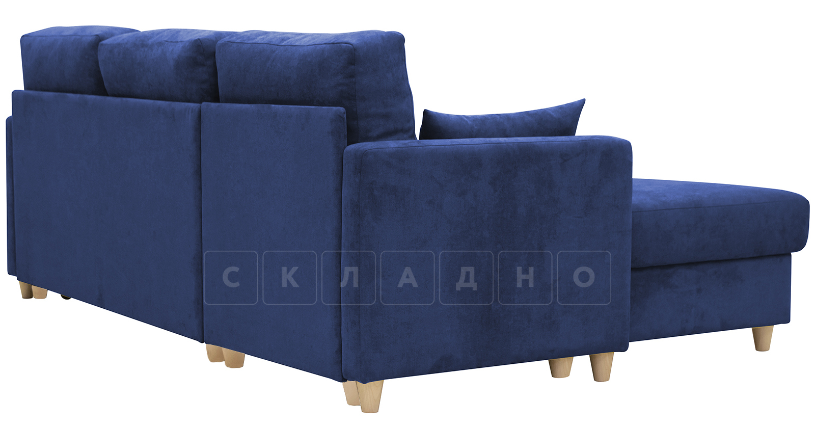 Угловой диван Дарвин темно-синий фото 4 | интернет-магазин Складно