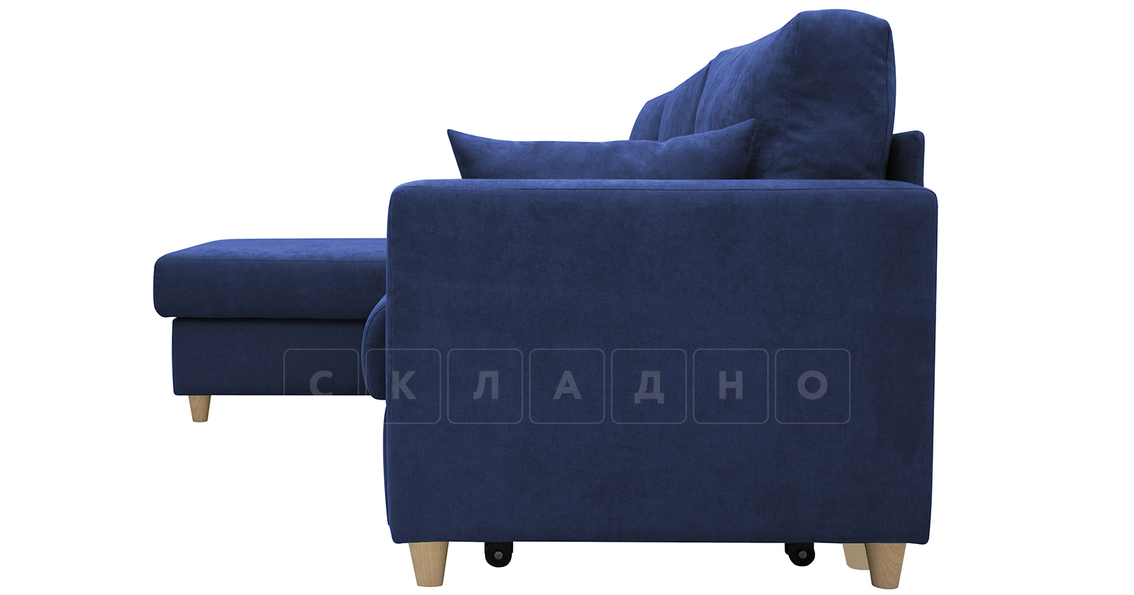 Угловой диван Дарвин темно-синий фото 5 | интернет-магазин Складно