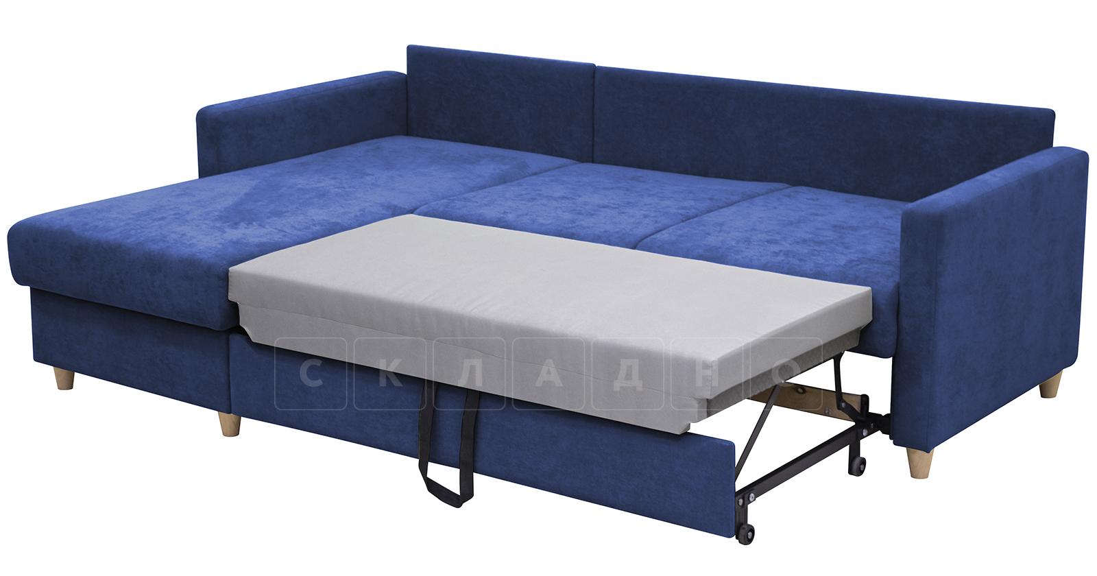 Угловой диван Дарвин темно-синий фото 6 | интернет-магазин Складно