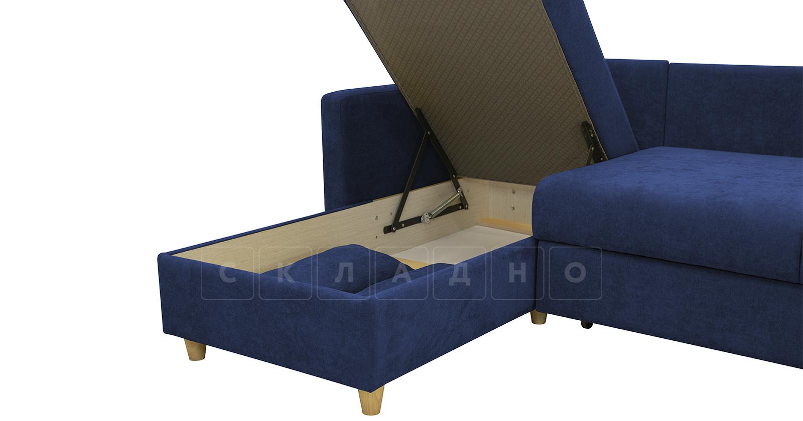 Угловой диван Дарвин темно-синий фото 7 | интернет-магазин Складно