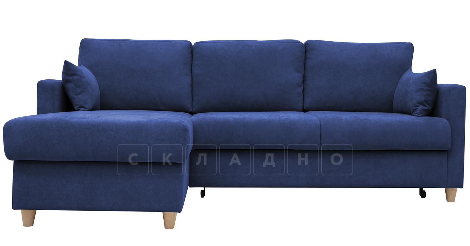 Угловой диван Дарвин темно-синий фото 1 | интернет-магазин Складно