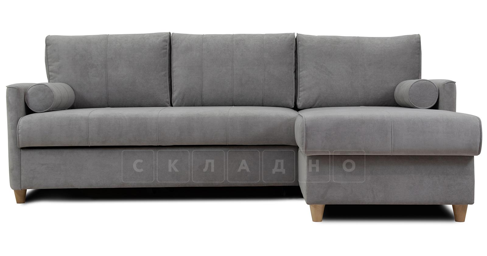 Угловой диван Лорен серебристый серый фото 2 | интернет-магазин Складно