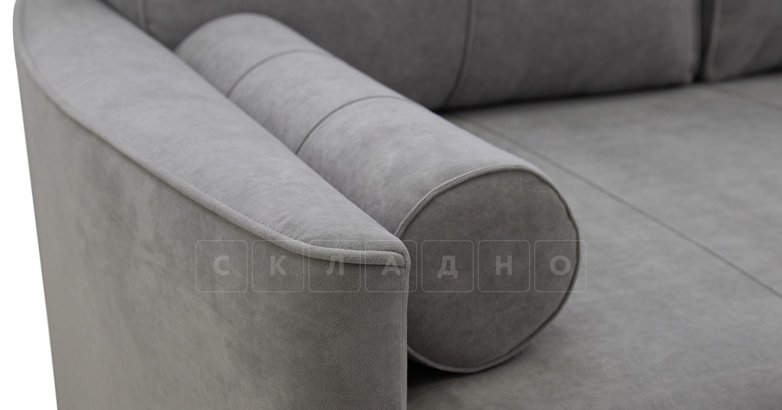 Угловой диван Лорен серебристый серый фото 11 | интернет-магазин Складно