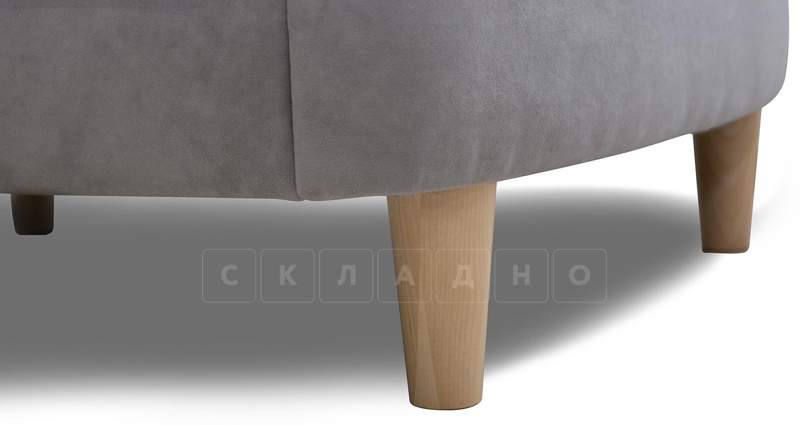 Угловой диван Лорен серебристый серый фото 10 | интернет-магазин Складно