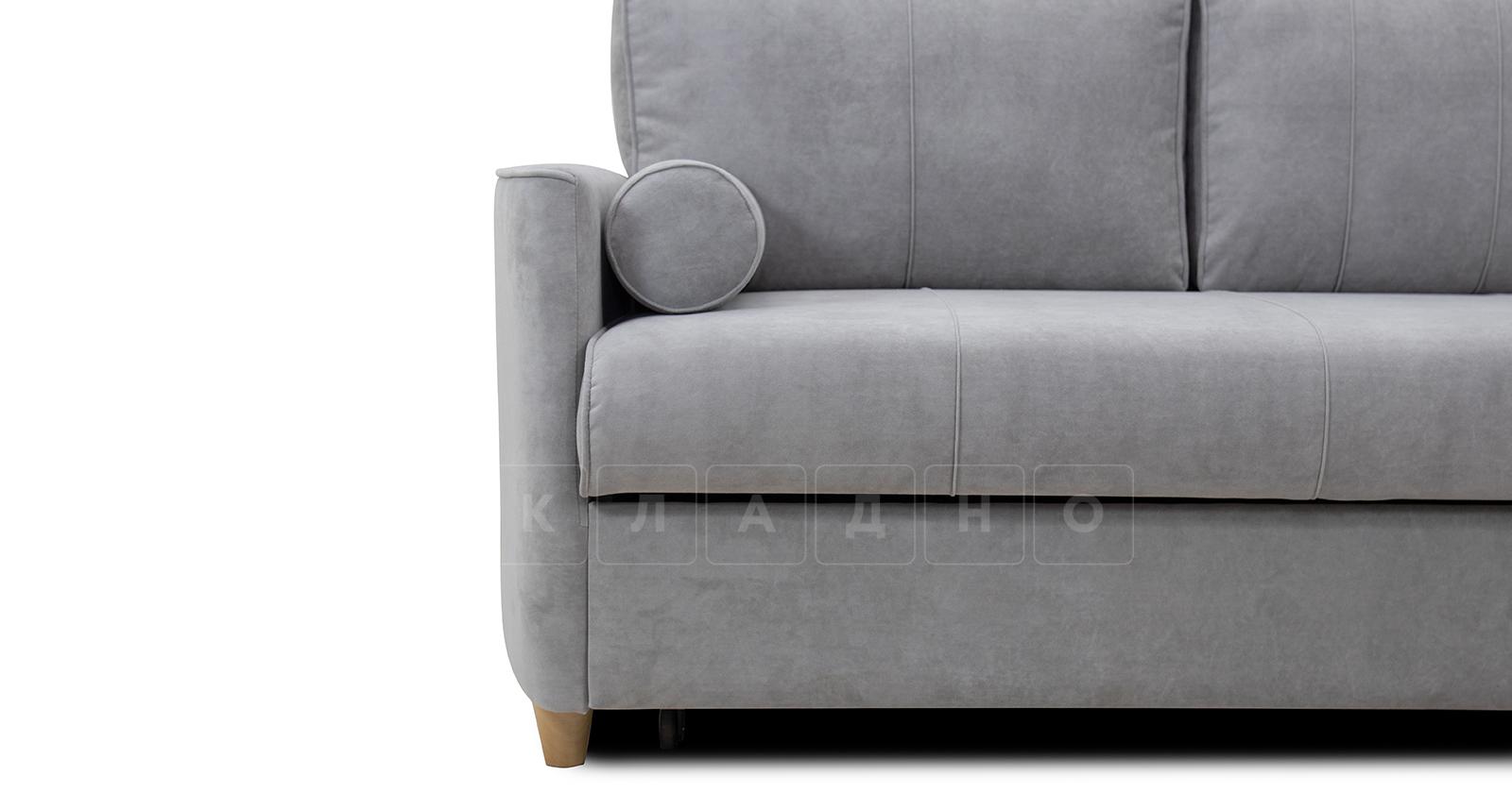 Угловой диван Лорен серебристый серый фото 13 | интернет-магазин Складно