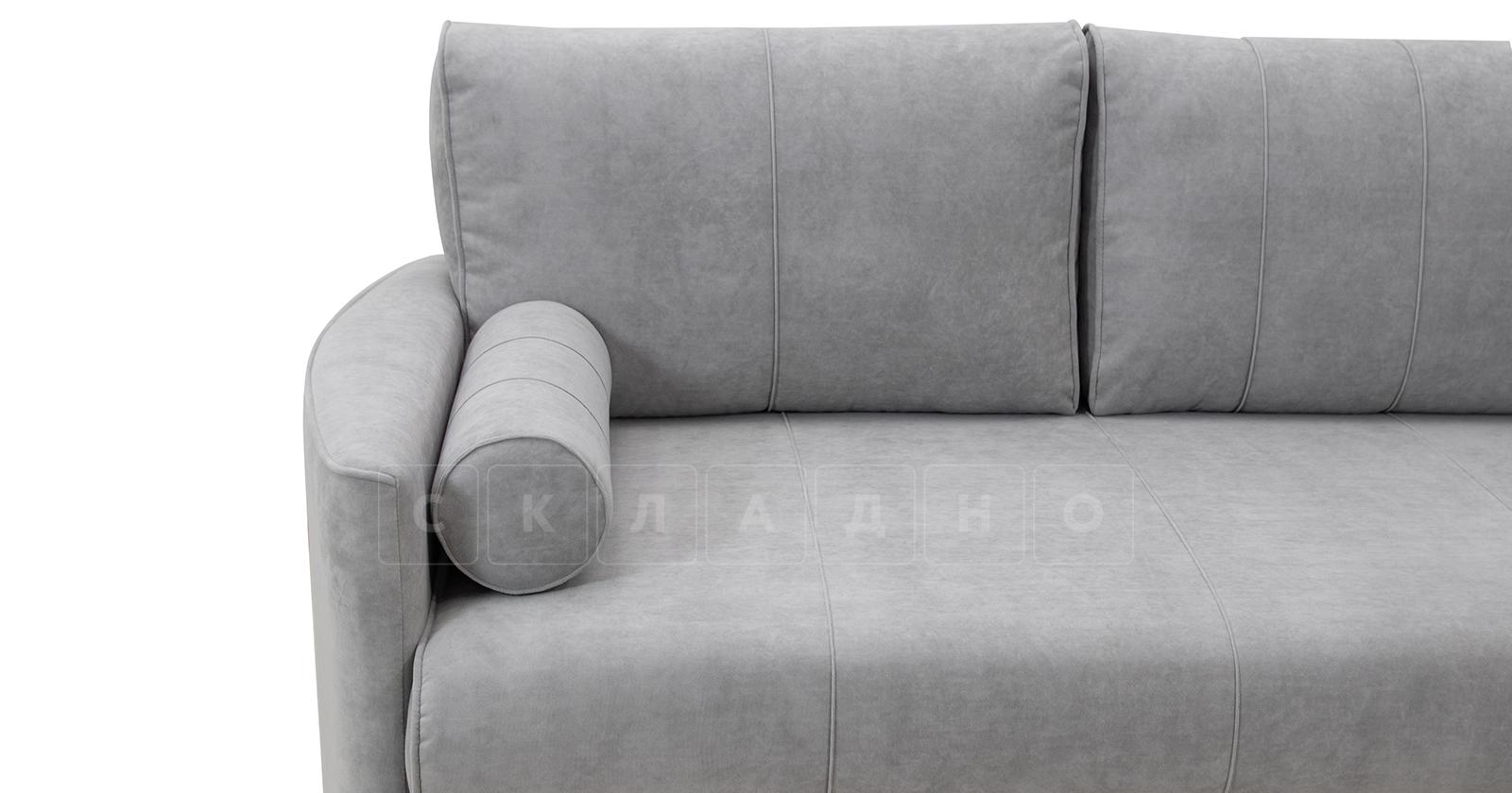 Угловой диван Лорен серебристый серый фото 14 | интернет-магазин Складно