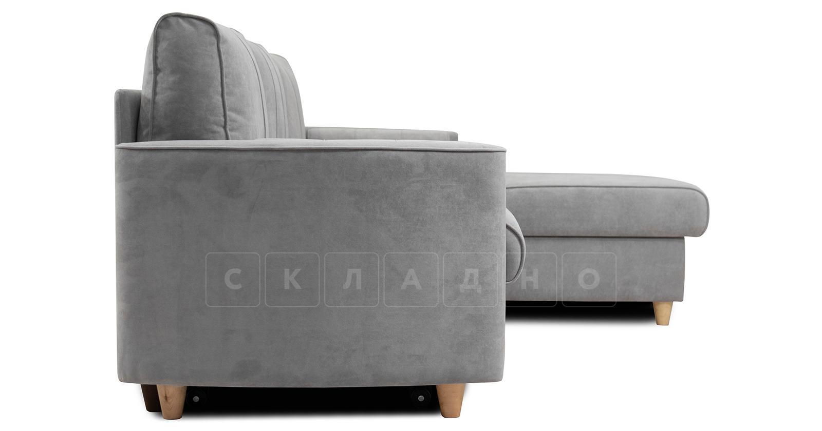 Угловой диван Лорен серебристый серый фото 4 | интернет-магазин Складно