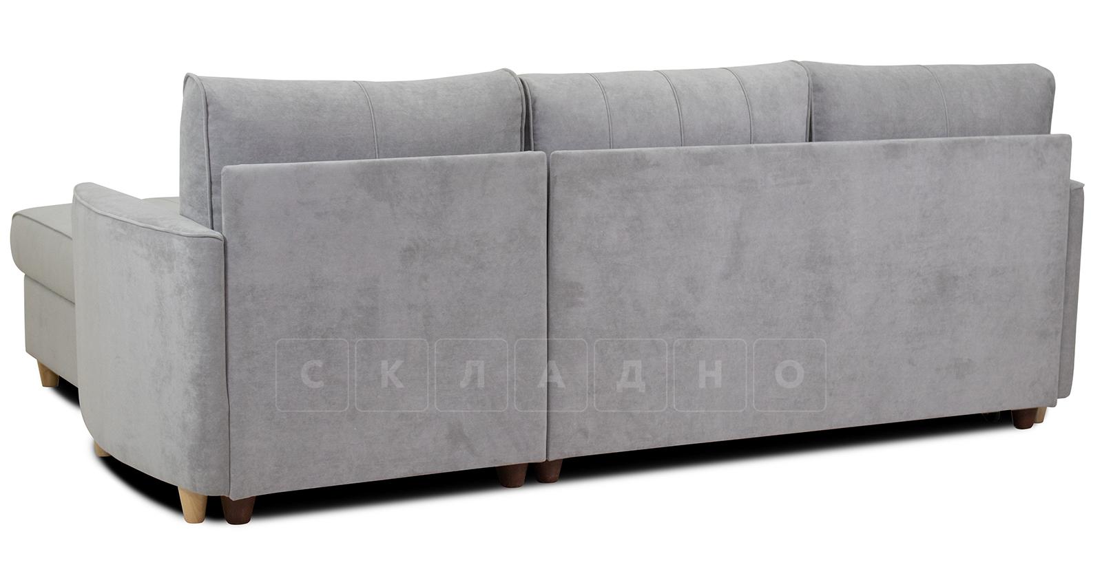 Угловой диван Лорен серебристый серый фото 5 | интернет-магазин Складно