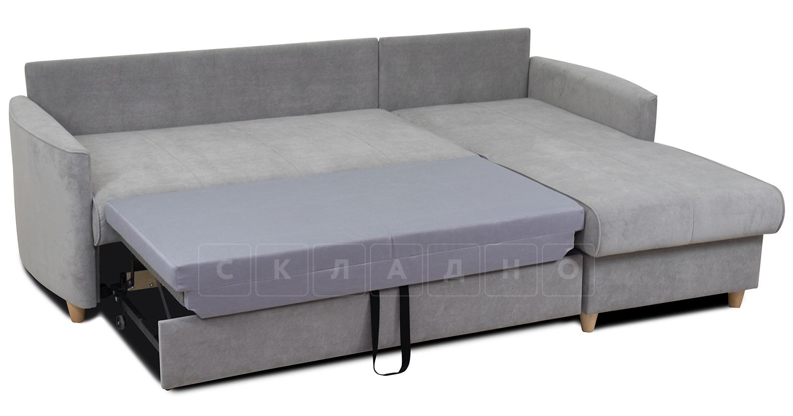 Угловой диван Лорен серебристый серый фото 6 | интернет-магазин Складно