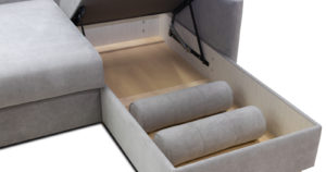 Угловой диван Лорен серебристый серый 54990 рублей, фото 8 | интернет-магазин Складно