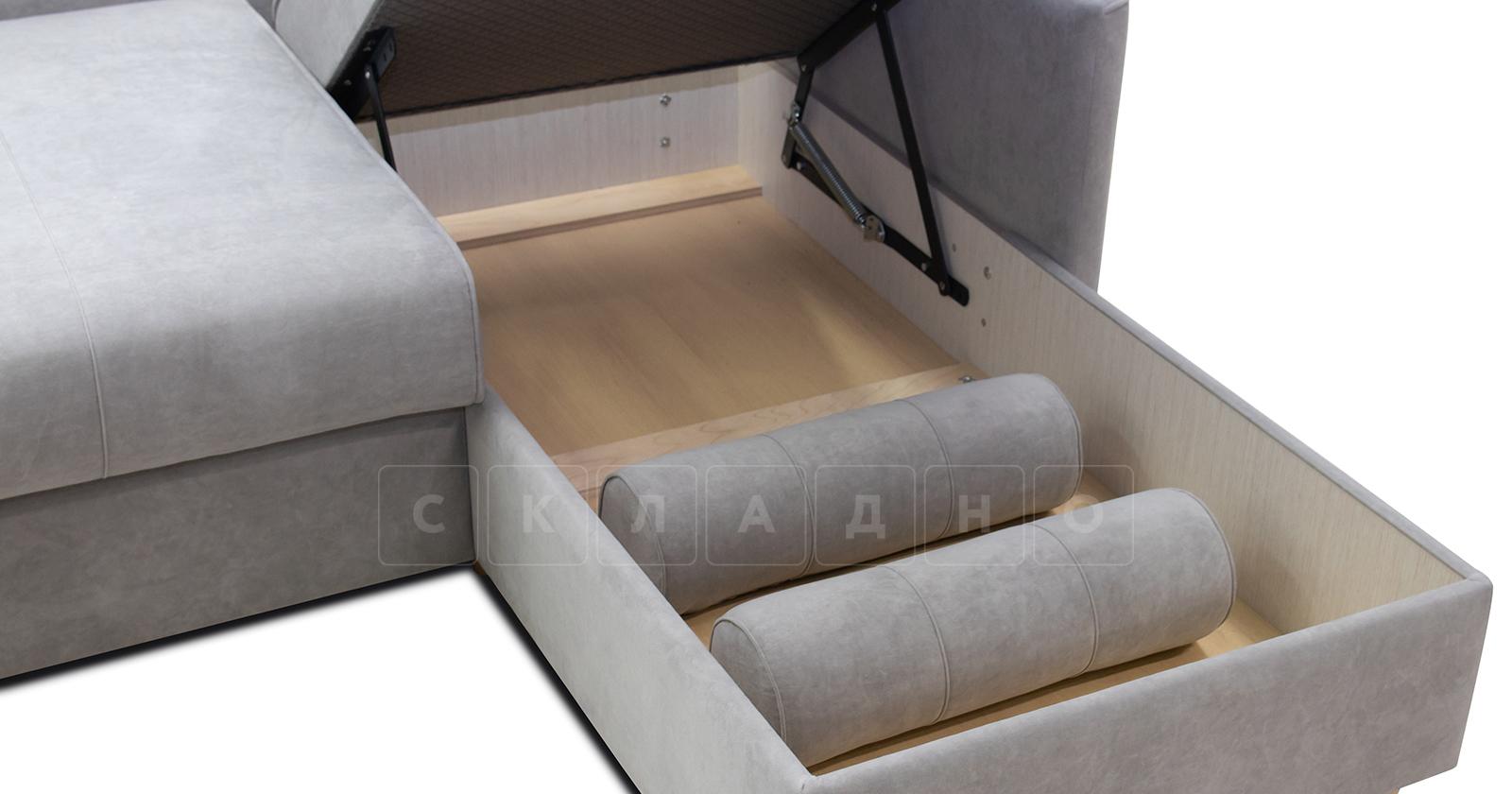 Угловой диван Лорен серебристый серый фото 8 | интернет-магазин Складно