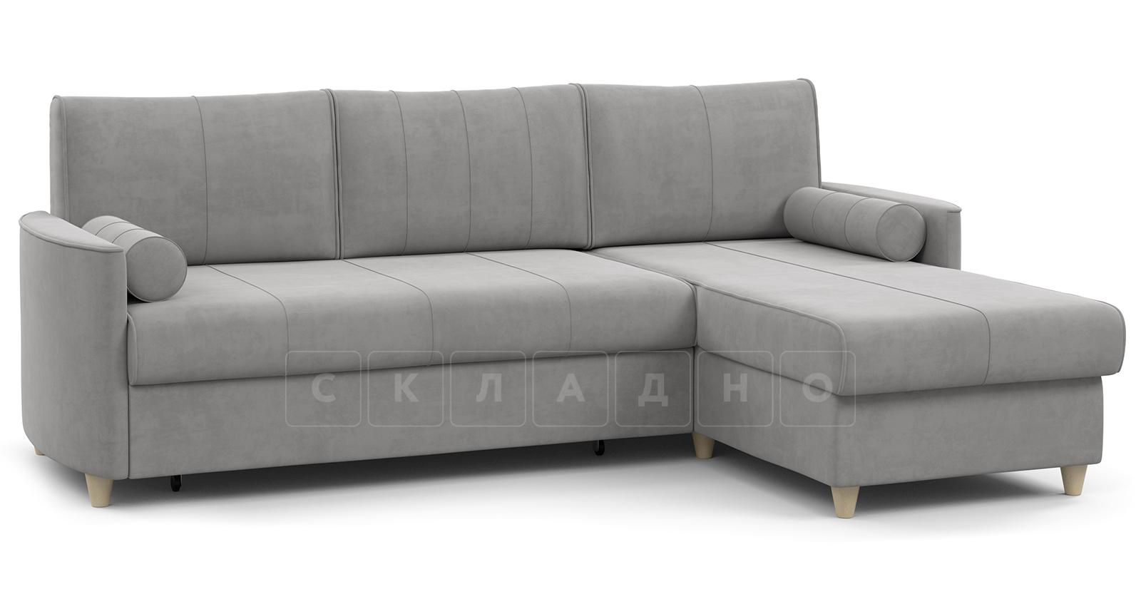 Угловой диван Лорен серебристый серый фото 1 | интернет-магазин Складно