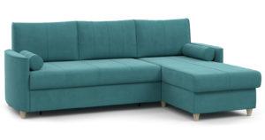 Угловой диван Лорен бирюзовый-15565 фото | интернет-магазин Складно
