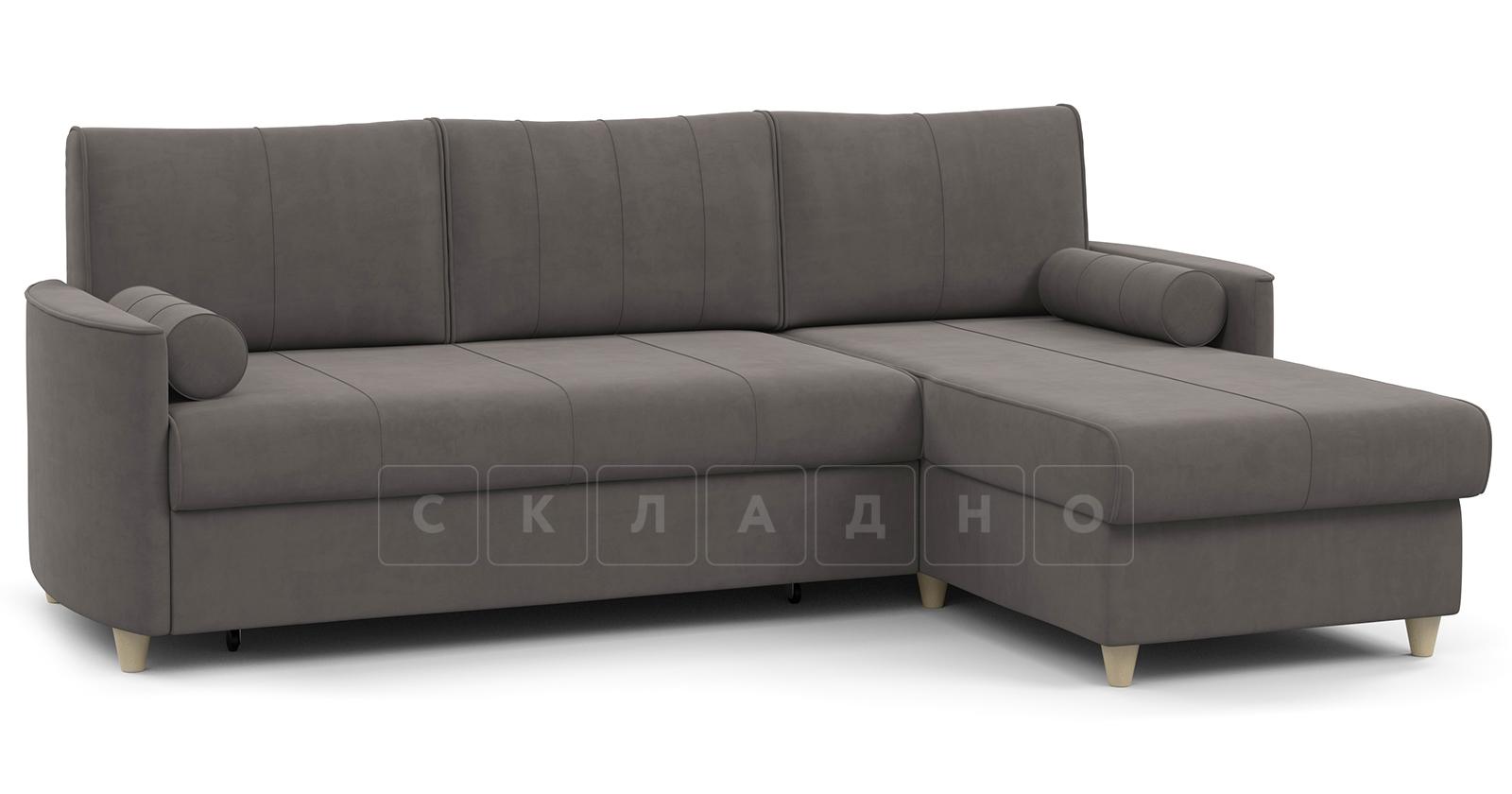Угловой диван Лорен серо-коричневый фото 1   интернет-магазин Складно