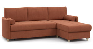 Угловой диван Лорен кирпичный-15559 фото | интернет-магазин Складно