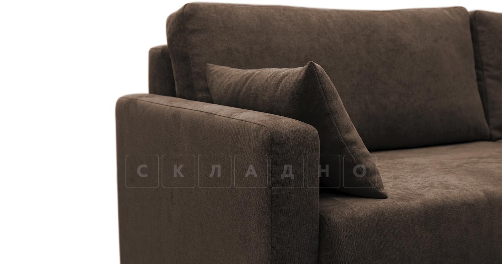 Диван еврокнижка Дарвин коричневый фото 7 | интернет-магазин Складно