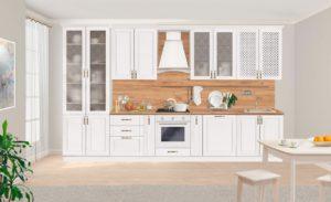 Кухонный гарнитур Массив-Люкс 3800 с буфетом  101410  рублей, фото 1   интернет-магазин Складно