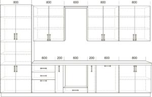 Кухонный гарнитур Массив-Люкс 3800 с буфетом 101410 рублей, фото 2   интернет-магазин Складно