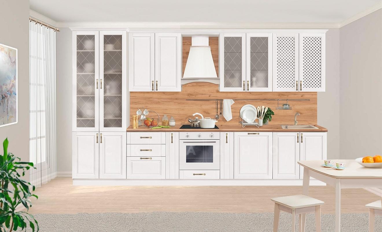 Кухонный гарнитур Массив-Люкс 3800 с буфетом фото 1   интернет-магазин Складно