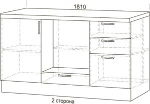 Кухонный гарнитур Массив с островом 190300 рублей, фото 4 | интернет-магазин Складно