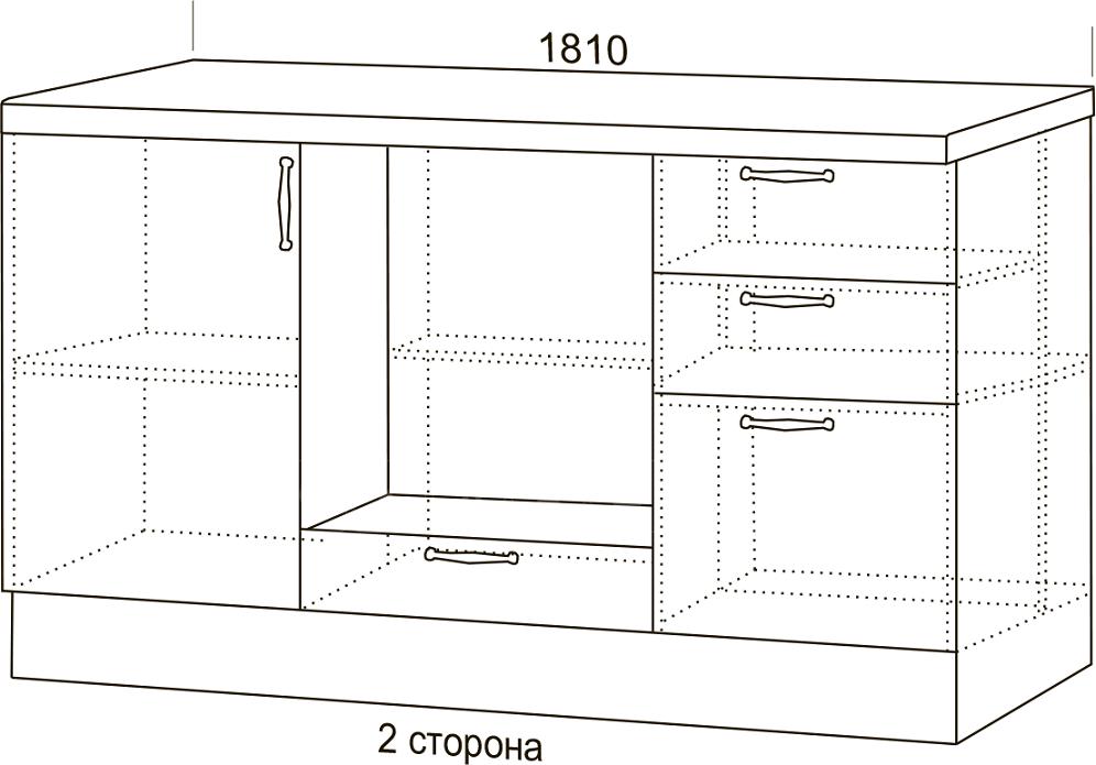 Кухонный гарнитур Массив с островом фото 4 | интернет-магазин Складно