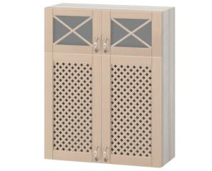 Кухонный навесной шкаф с решеткой Массив 80 см МВ-77В  28950  рублей, фото 1 | интернет-магазин Складно