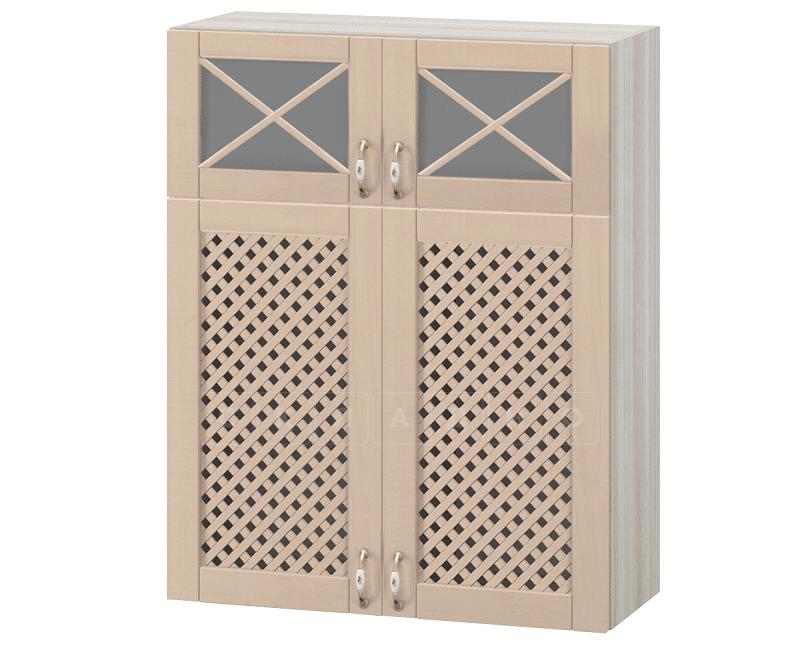 Кухонный навесной шкаф с решеткой Массив 80 см МВ-77В фото 1 | интернет-магазин Складно